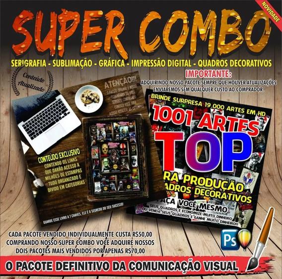 Super Combo - Pacote Estampas Premium + Artes Quadros