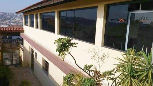 Sobrado Com 3 Dormitórios E Salão De Festas À Venda, 307 M² Por R$ 590.000 - Vila Clarice - Santo André/sp - So0503