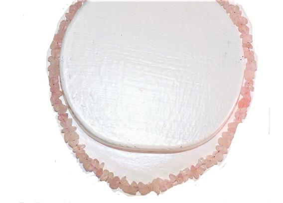 Collar Piedra : Cuarzo Rosa 42 Cm (chip)
