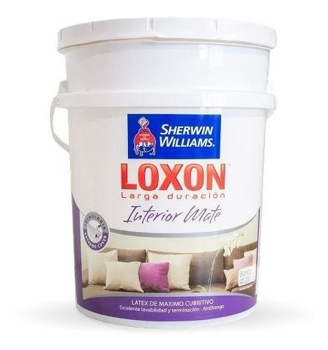 Loxon Latex Interior Larga Duracion 20lt 18 Cuotas S/interes
