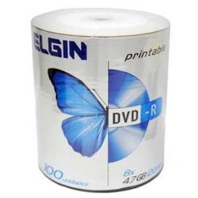 Dvd-r Printable 4,7gb 16x Embalagem 100 Elgin