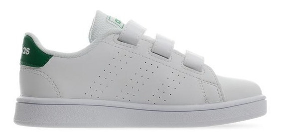 Tenis adidas Niño Blanco Verde Advantage C Ef0223