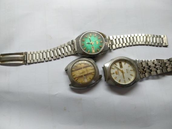 Lote De Relógios Orient Automático Para Restauro Ou Peças
