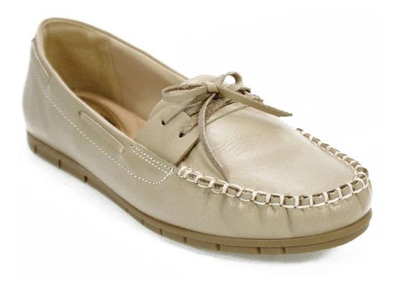 Sapato Feminino Mocassim Bege Comfortflex