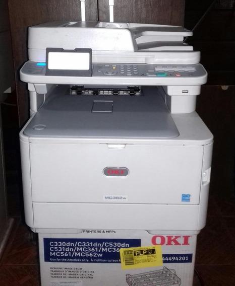 Multifuncional Laser Colorida Oki Mc362w Com Wifi E Rede
