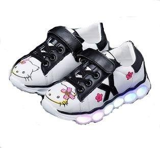 Zapatos Tenis Hello Kitty Sin Luz Led Para Niñas Bebés