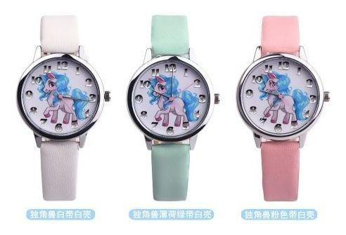 Relógio Analógico Relógio Unicórnio Quartz De Pulso 3 Pc