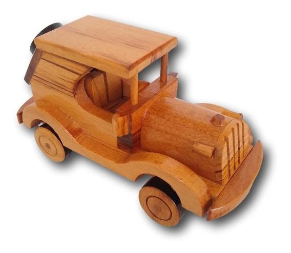 Carrinho Jeep De Madeira Miniatura Decoração Ref. 0690