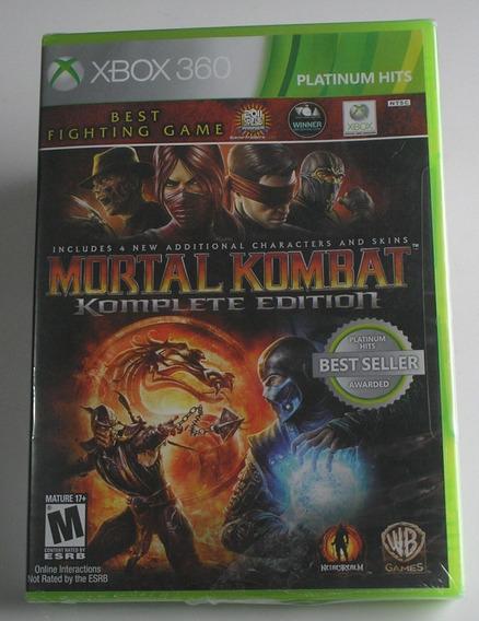 Mortal Kombat 9 Komplete Edition Xbox 360 Original Lacrado