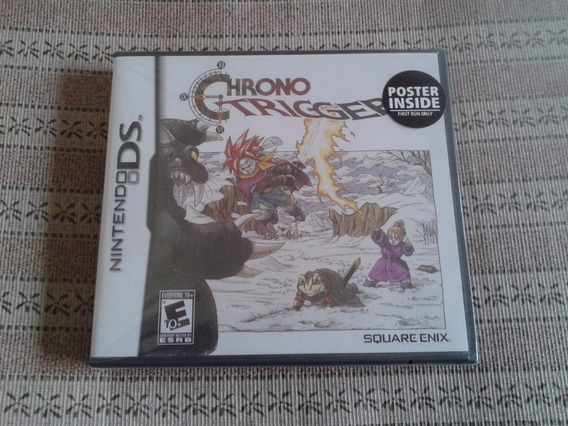 Chrono Trigger First Run Com Poster - Lacrado - Rpg Raro