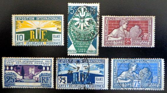 Francia, Serie Yv. 210-15 Expo París 1925 Nu Usados L7667