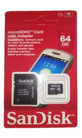 Cartão De Memória Sd Sandisk 64gb Sp Envio R$ 15,00