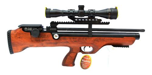 Pcp Hatsan Flashpup Wood 5,5mm Com Luneta 4x32