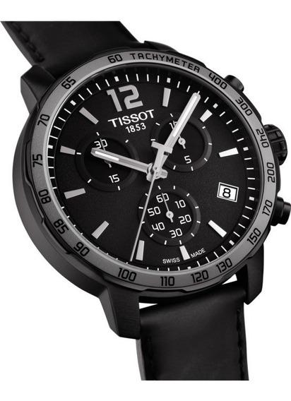 Tissot Quickster Preto Couro Original T095.417.36.057.02