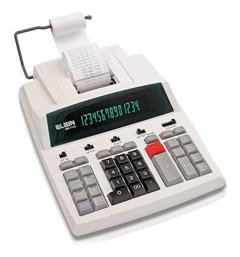 Calculadora Elgin Com Bobina 14 Dig. Mb 7142 (frete Grátis)