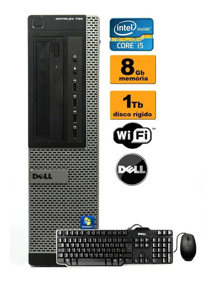 Cpu Desktop Dell Optiplex 790/990 I5 2ª 8gb Hd 1tb Rw Wifi