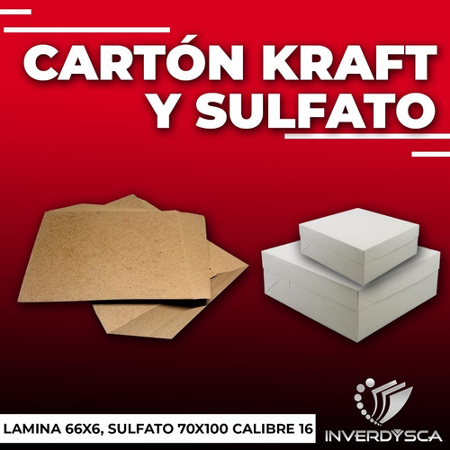 Carton Sulfato Blanco Para Cajas 70x100 Calibre 16 Pack 15