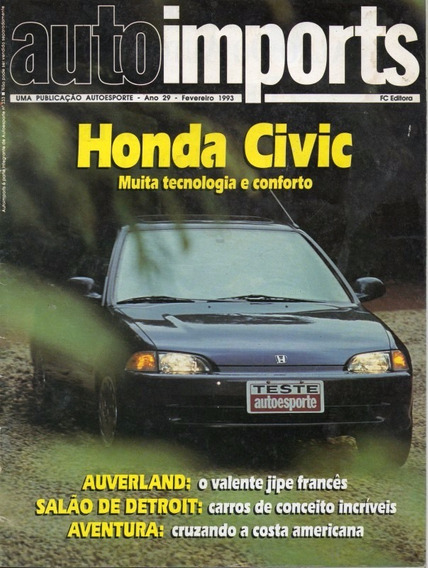 Auto Imports Fev/1993 Honda Civic Auverland 4x4 Brabus 300ce