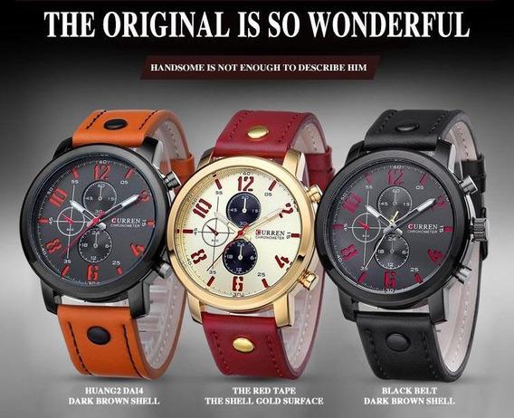 Relógio Curren 8192 Novo Barato