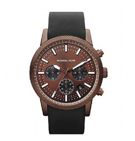 Relógio Michael Kors Mk8285 Marrom C/ Pulseira Preta