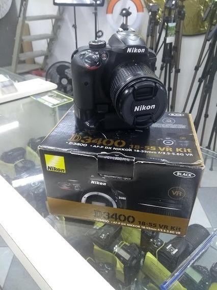 Camera Nikon D3400 + Lente Nikon 18-55 + Garantia