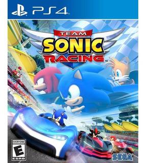 Team Sonic Racing- Juego Fisico Ps4- #sniper.cl