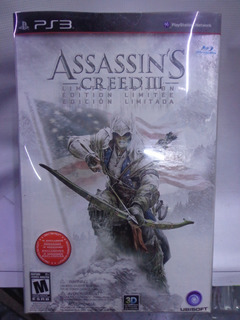 Assassins Creed 3 Edicion Limitada Ps3