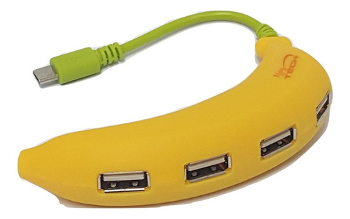 Hub Otg Smart 4 Ptos. Banana Para Celulares | Pc | Notebook