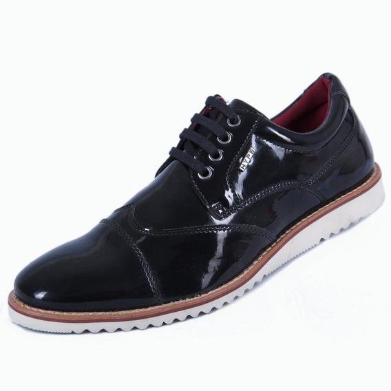 Sapato Oxford Masculino Verniz Conforto Lançamento Hype 2019