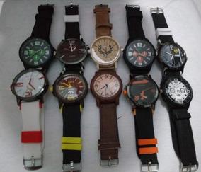 Kit Com 10 Relógios Masculinos De adidas, Ferrari, Puma...