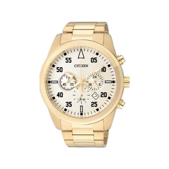 Relógio Citizen Masculino Tz30795g Aço Dourado Original