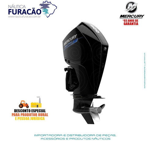 Motor De Popa Mercury 4 Tempos 300hp Xl V8 Dts Seapro