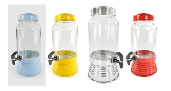 Suqueira Refresqueira De Vidro Porta Pinga Alumínio Polido