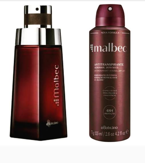 Perfume Malbec Tradicional Masculino + Aerosol Malbec Origi