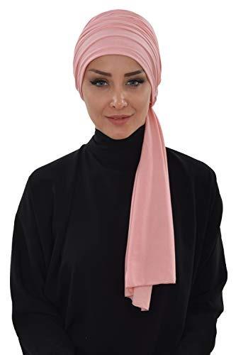 Jersey Shawl Para Mujer Algodón Bonnet Modesty Turban Cap W