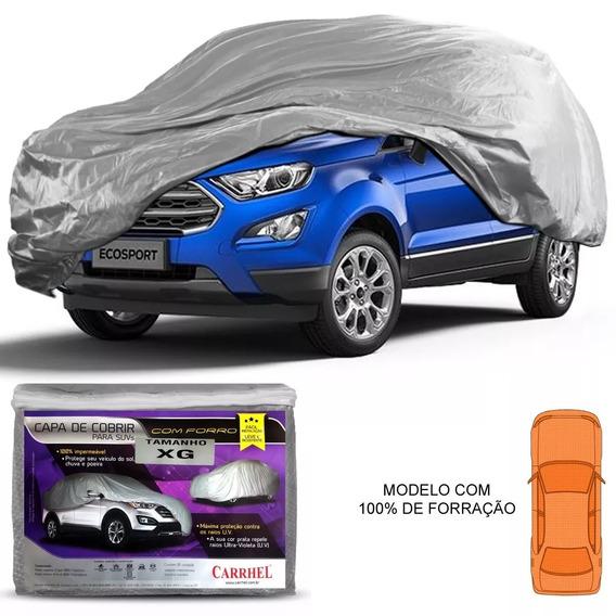 Capa Cobrir Carro Suv Xg 100% Impermeável Forro Parcial