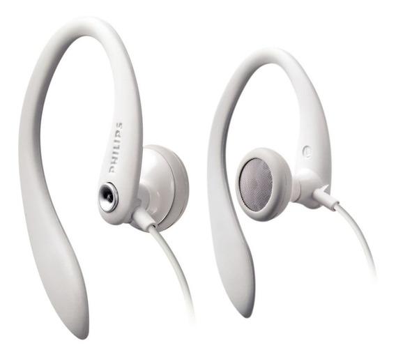 Fones De Ouvido Philips Flexible Fit Shs3300 (preto/branco)