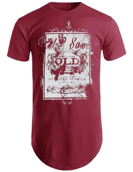Camisetas Masculinas Blusas Longline Camisas Estampadas Old