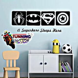Vinil Decorativo Cuadros Super Heroes