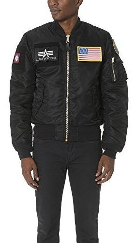 Alpha Industries Hombres Ma-1 Slim Fit Flex Flight Bomber Ch