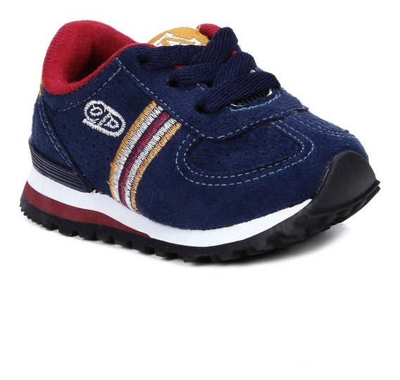 Tênis Infantil Para Bebê Menino - Azul Marinho/bordô