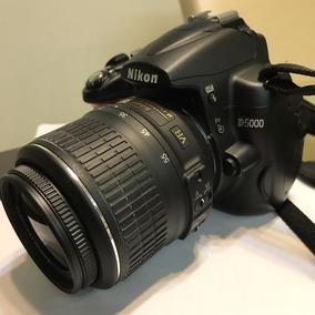 Camera Dslr Nikon D5000 Com Objetiva 18-55mm Na Caixa