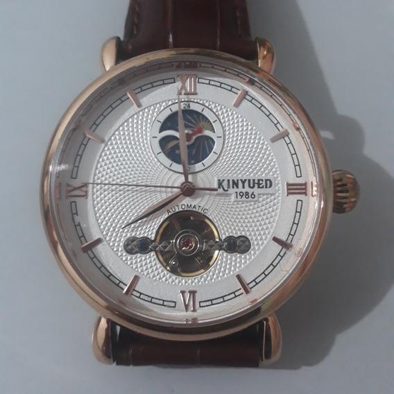 Relógio Casual Automático Pulseira De Couro