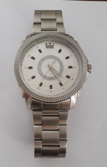 Relógio Dumont Masculino Du2035lsr/1k Prata Impecável
