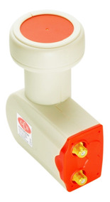 Lnb Ku Duplo Universal Hd Gcn Conector Dourado 6 Unidades.