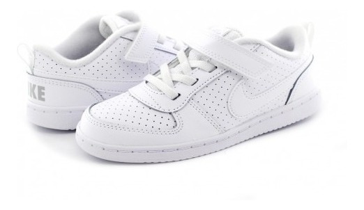 Tenis Escolar Nike 870029 100 White/white Court Borough Low