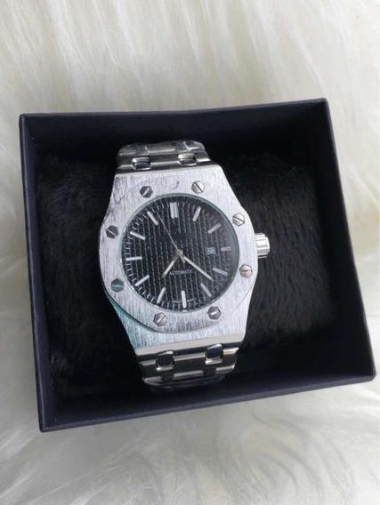 Relógio De Pulso Masculino Hip Hop Luxo Escovado Top+ Caixa