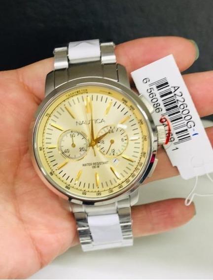 Relógio Nautica Cronografo A22600g Na Altarelojoaria