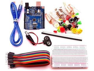 Oferta! Kit Starter Arduino Uno R3 + Protoboard Y Accesorios