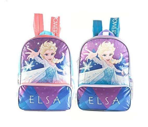 Mochila Frozen Elsa Espalda 16p Ct Mundo Moda Kids 88302